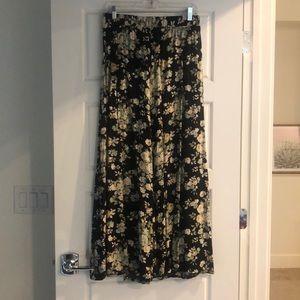 Floral wide legged pant